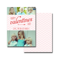 Cupid's Chevron: 10pk Valentine Cards