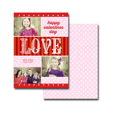 B2 2-sided Valentine Card (13-033) Set of 25 Cards
