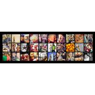 Collage horizontal avec 30 photos carrées - 8 x 24