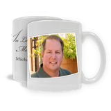 "11oz. White Ceramic Mug ""In Loving Memory"" (PG-71E)"