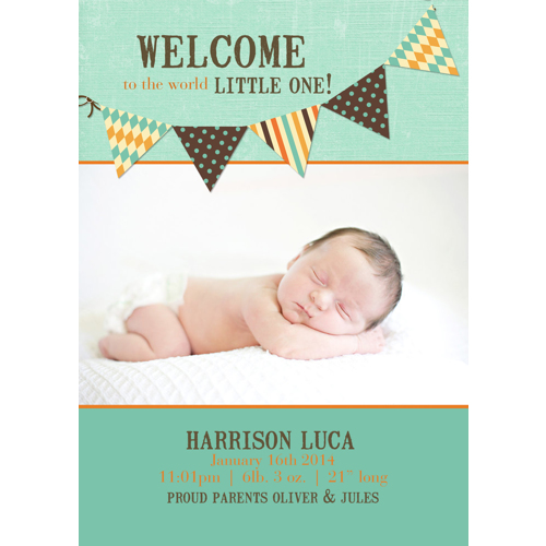 Birth Announcement (13-083) Single Card