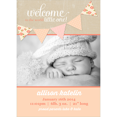 Birth Announcement (13-084-5x7)
