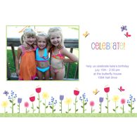 Carte photo 5 x 7 horizontale - 1 côté / Célébration / Fleurs (Anglais)