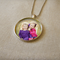 Necklace (1inch round- silver)
