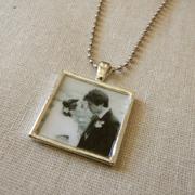 Necklace (1 square-antique silver)