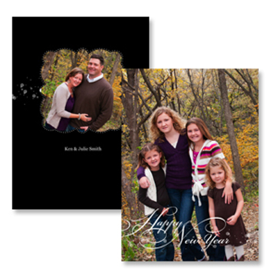 greeting overlay black 10pk new year cards