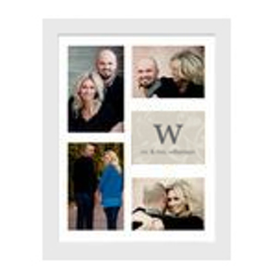 Framed Collage Print (11x14 _V_monogram white) - Store Name | Gift ...