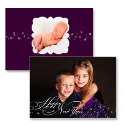 greeting overlay violet 10pk new year cards