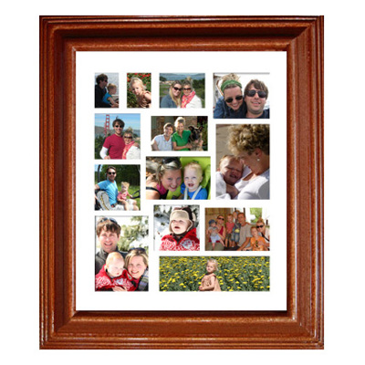 Framed Collage Print (20x24_V2 rosewood)