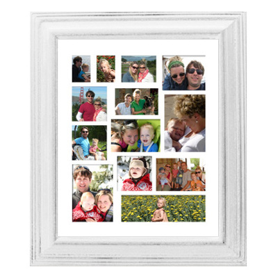 Framed Collage Print (20x24_V2 white) - Gift Specifications | Gene\'s ...