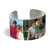 Cuff Bracelet (PG-185B) Silver Finish 4 Photos