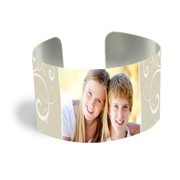Cuff Bracelet (PG-185C) White Gloss Elegant Design 1 Photo