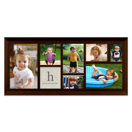 Framed Collage Print (15x6_H monogram black)