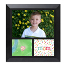 Framed Collage Print (6x6.5_H Mom Black)