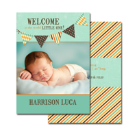 2-sided Birth Announcement (13-091-5x7) Card
