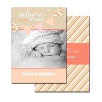 2-sided Birth Announcement (13-092-5x7)