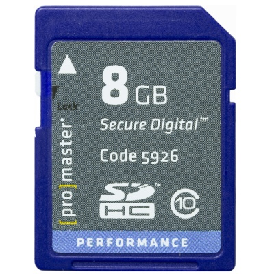 ProMaster-8GB Performance SDHC #5926-Memory cards, tape and discs