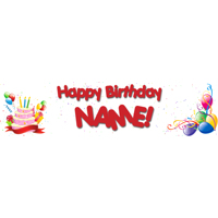 Birthday Banner White No Photo