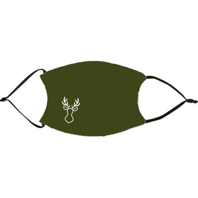 Green Christmas Mask with Deer Face Mask