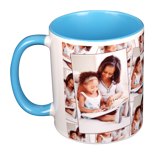 11 oz. Tiled Ceramic Light Blue Photo Mug