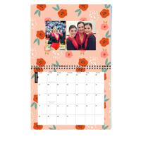 Center Bound Floral Calendar: 2018