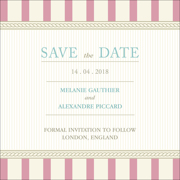 Vintage C - 1 Sided Save the Date  6x6