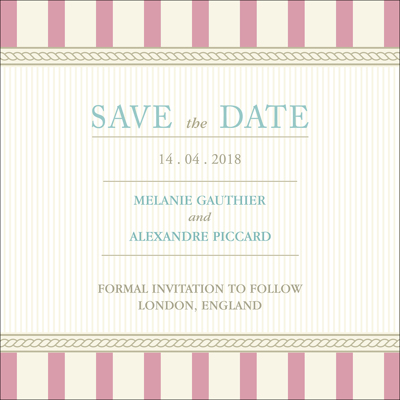 Vintage C - 1 Sided Save the Date