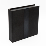 Black Linen with Ribbon USB Folio