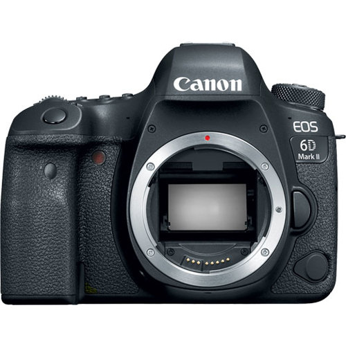 Canon-EOS 6D Mark II Digital SLR Camera - Body Only - Black-Digital Cameras