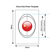 China Visa Photo Templates