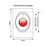 China Visa Photo Templates