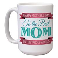 15 oz Ceramic Mom Mug (G)