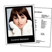 Headshot 8½x11 Black Border plus resume