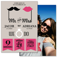 5x7 2 Sided Card (Retro Wedding)
