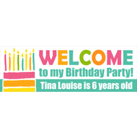 300x900mm  Birthday Cake Banner  (DL Print)