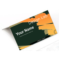 Business card flip open up/down