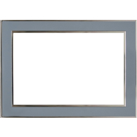 4x6 Horizontal Blue Metal Frame