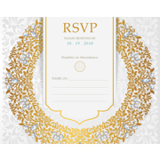 Luxury - 1 Sided RSVP  4x5