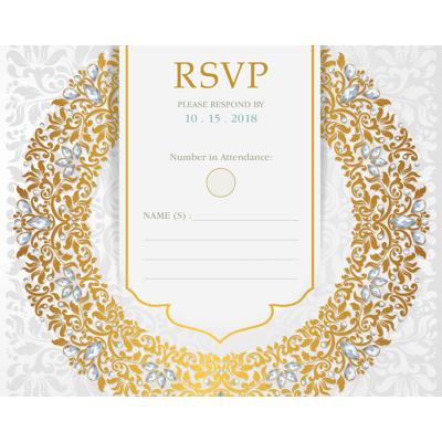 Luxury - 1 Sided RSVP