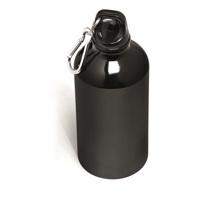 Black Aluminium Water Bottle - 500ml with engraving