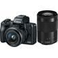 Canon-EOS M50 Mirrorless Camera with EF-M 15-45mm IS STM and 55-200mm IS SMT Lenses - Black-Digital Cameras