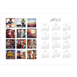 2021 - 18 x 12 Poster Calendar with 12 images