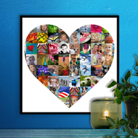 12 x 12 Heart Collage (65 photos)