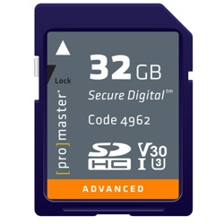 ProMaster-Advanced SDHC 32GB 633X #4962-Memory cards, tape and discs