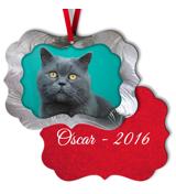 Scalloped Metal Ornament - 2S C
