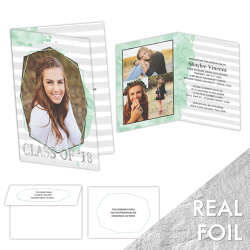 Minted<br>5x7 Foil<br>Folded