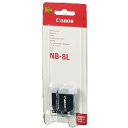 Canon-NB-8L-Bloc-piles & Adaptateurs