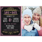 Chalkboard - 1 Sided Save the Date  5x7