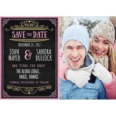 Chalkboard - 1 Sided Save the Date