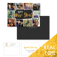 Happy New Year<br>5x7 Foil<br>Envelope